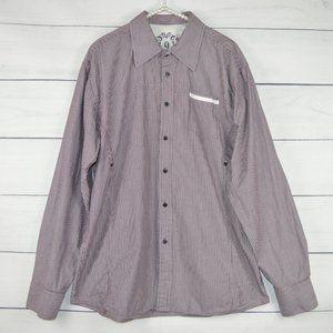 191 UNLIMITED   Mens Maroon XL long  Sleeve shirt